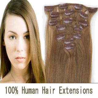 Any Color 7pcs Clip in Remy Full Head Set 100 Real Human Remy Hair