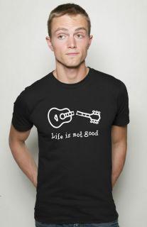 Life Is not Good Broken Guitar T Shirt Rock Punk