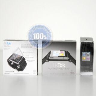 LunaTik Tiktok Watch Band Strap for iPod Nano 6g Black Authentic 100
