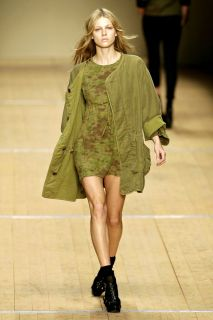 Isabel Marant Etoile RARE Runway Camo Dress Linen Blend Sz 0