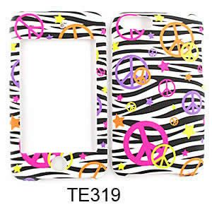 IPOD TOUCH 2G 3G 2ND 3RD GEN PEACE SIGN BLACK ZEBRA CASE COVER SKIN