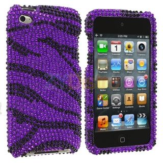 Zebra Bling Rhinestone Case Cover for iPod Touch 4th Gen 4G