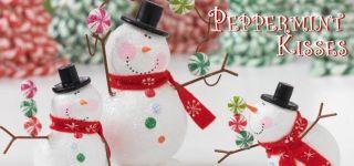 New RAZ Imports Snowman Decorations Large Snowman Head s 2 Kisses