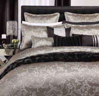 Isadora Silver 3 Pce Super King Size Quilt DOONA Cover Set Logan Mason