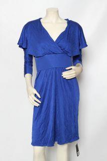 Issa London Ultramarine Bright Blue Silk Jersey Cocktail Dress Sz 10