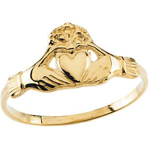 14k Childrens Claddagh Ring Irish Jewelry Celtic Fashio