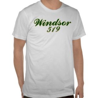 Windsor Ontario Canada area code 519 T shirt