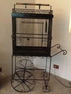 Filigree Wrought Iron Bird Cage~Vintage Art Decorative~ Beautiful w