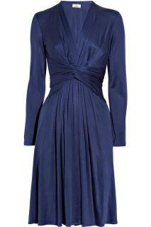 Issa Navy Silk Jersey Dress 6 L