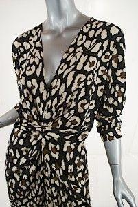 Issa London 100 Silk Jersey Dress w Fun Print Fabulous NWT Sz US 12 GB