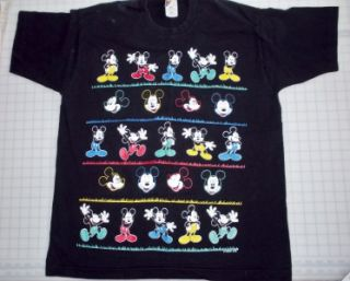 Mickey Mouse UNLIMITED Jerry Leigh VINTAGE Tee T Shirt ~ Size XL1970s