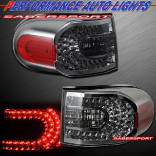 2007 2011 Toyota FJ Cruiser L E D  Tail Lights LED Smoke Lens Pair