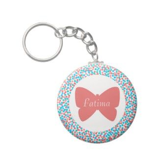 Fatima Butterfly Dots Keychain   369 My Name
