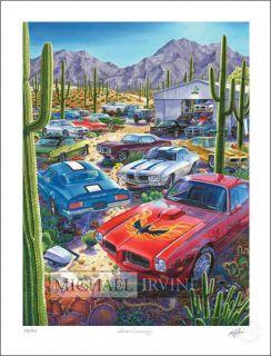 IRVINE CAR ART PONTIAC FIREBIRD 400 TRANS AM 67 68 69 70 71 72 FORMULA