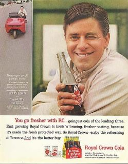 Jerry Lewis for Royal Crown Cola Ad 1963