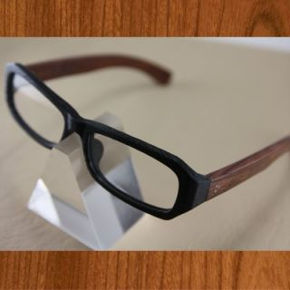 SAGAWA Fujii Real Wood Temple Eyeglass Glass Plastic 8317 7111D Woody