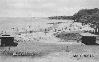 West Port Connecticut Sherwood Island State Park Postcard