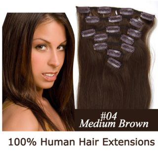 7pcs Clip in Full Head 100 Real Human Remy Hair Extensions