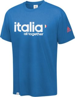 Italy Soccer Adidas Soccer UEFA Euro 2012 All Together T Shirt
