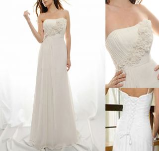 Chic White Ivor​y Wedding Dress Bridesmaid Bridal Gown Stock Sz UK 6
