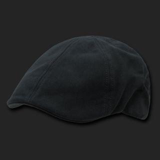 Black Ivy Cabbie Driving Driver Newsboy Golf Cabby Cotton Cap Caps Hat