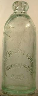 Joseph Son Minneapolis Minn MN Hutchinson Bottle