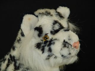 Lifelike Plush Fur Snow Leopard Lynx Stuffed Animal Toy