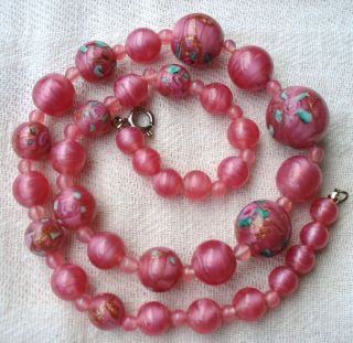 Vintage Italian Venetian Wedding Cake Bead Necklace