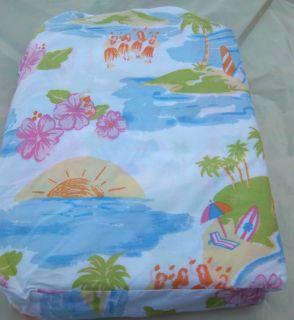 New Pottery Barn Kids Pink Island Surf Twin Sheets Santa Barbara