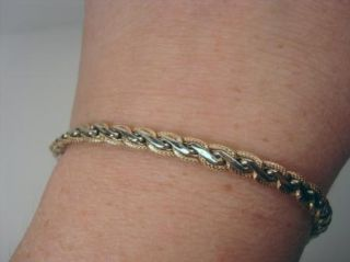 14kt Yellow White Gold Ladies Bracelet 2 grams Italy