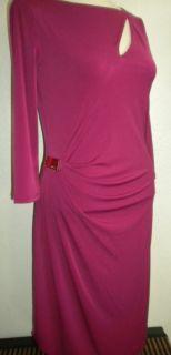Lo Jennifer Lopez MS Rasberry Pink Pintuck Cut Out Fashion Dress