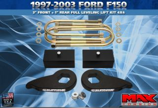 1997 2003 Ford F 150 3 Front 1 Rear Leveling Lift Kit 4x4 4WD Pro