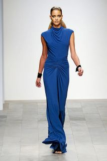 Issa London Designer Runway Long Blue Dress