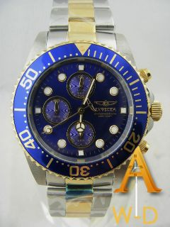 Invicta Pro Diver Flame Fusion Mens All Stainless Steel Chrono Watch