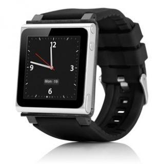 Brand New Cool Black iWatchz Wrist Watch Case for iPod Nano 6g