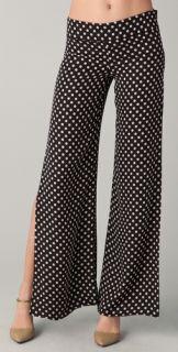 Haute Hippie Wide Leg Polka Dot Pants