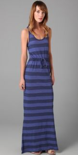 C&C California Bold Stripe Maxi Tank Dress