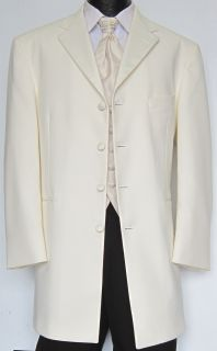 Ivory / Off White Four Button Tuxedo Dinner Jacket Costume Theater