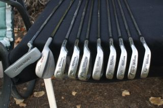 Wilson Black Jack irons 3 Foremost woods Wilson wedge Foremost putter