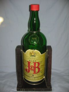Scotch Whisky Bottle w Stand