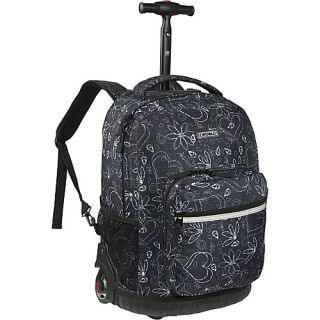 World Sunrise Rolling Backpack Love Black