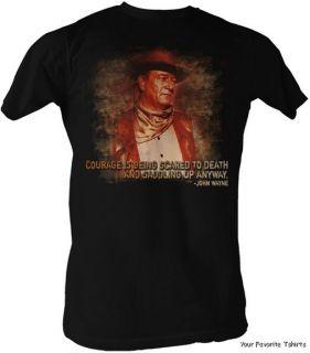 Licensed John Wayne Cowboy Courage Adult Shirt s XXL