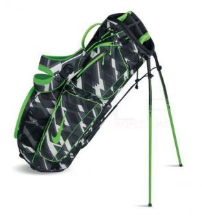 NEW NIKE XTREME SPORT IV P CARRY GOLF BAG (BLACK/ELECTRIC GREEN/PRINT