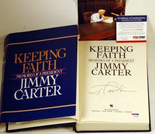 Jimmy Carter Signed Keeping Faith HC Book PSA DNA COA Video Proof