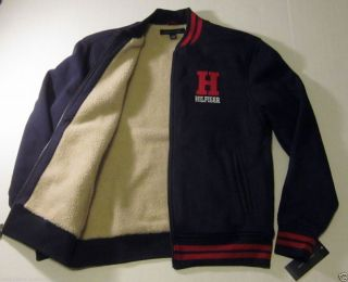 Tommy Hilfiger Mens Full ZUP Faux Fur Linned Navy Blue Jacket $149
