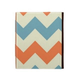 Orange blue chevron zigzag stripes zig zag pattern iPad folio cover