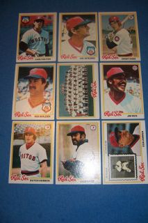 1978 Topps Boston Red Sox Complete Set of 33 Cards Yaz