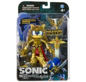 Sonic The Hedgehog Black Knight 5 inch Action Figure Excalibur Sonic