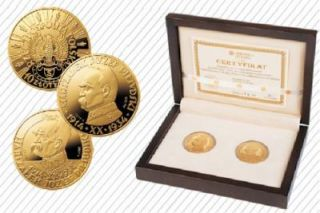 Poland Jozef Pilsudski Set 2 Coins 2009 Gold