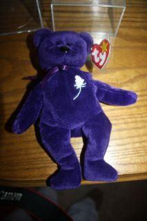 Ty Princess Diana Beanie Baby Purple 1997